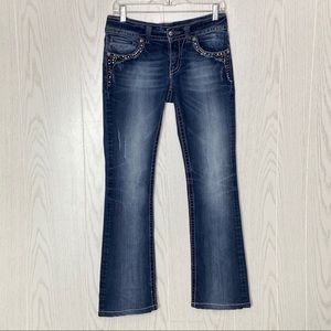 Miss Me Bootcut Distressed Style Jeans Size 29